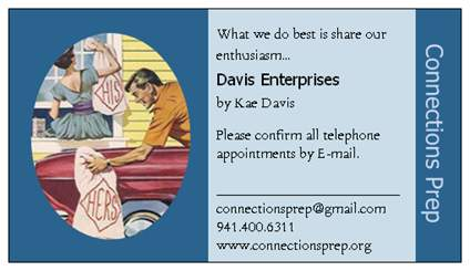 connections prep davis enterprises business card front